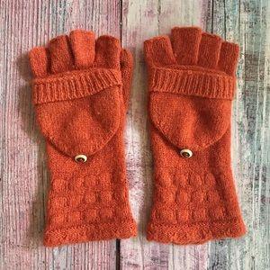 Anthropologie Burnt Orange Fingerless Glove/Mitten